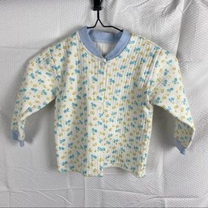 Baby/Toddler Blue & Yellow Long Sleeve Jersey Button Down T-Shirt Size 2